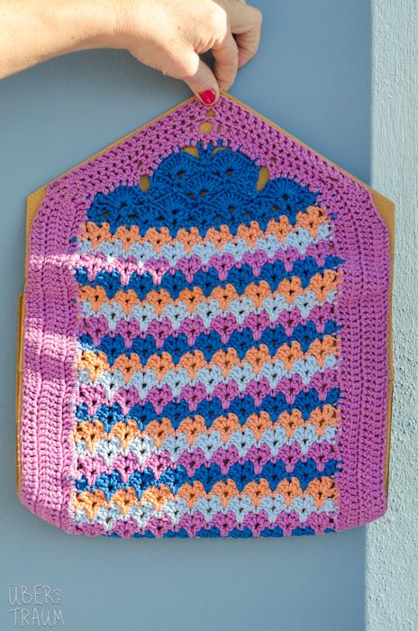 Color Crochet Envelope Purse