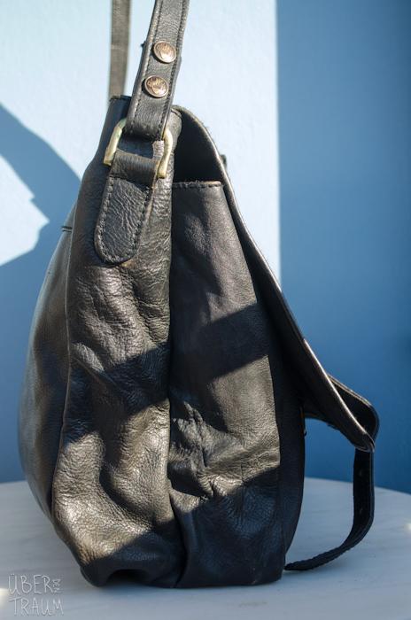 90's HiDesign Black Leather Travel Bag