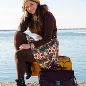 90's HiDesign Bordeaux Leather Travel Bag