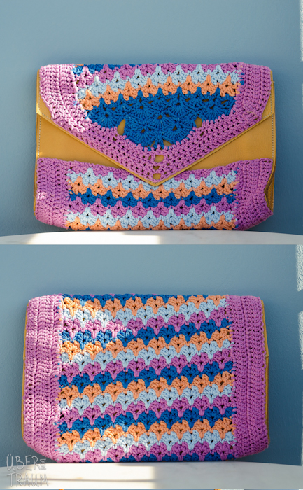 Color Crochet Envelope Purse Ber Den Traum