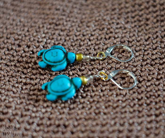 Turquoise Sea Turtle Crochet Stitch Markers