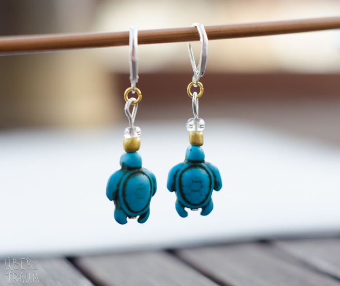 Turquoise Sea Turtle Crochet Stitch Markers - set of 2
