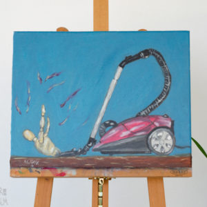 Conceptual Art Oil Painting - 'The Vacuum Cleaner'