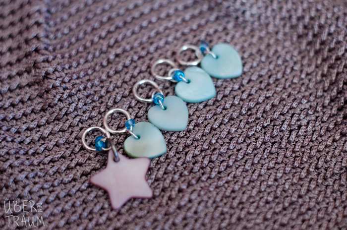 Star & Hearts Stitch Markers - set of 5